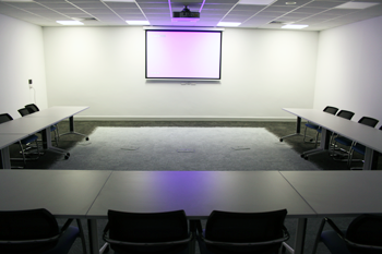 Ennistymon Digital Hub training room with overhead display