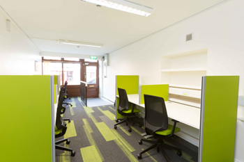 Hot-desks and partitions in Miltown Malbay Digital Hub